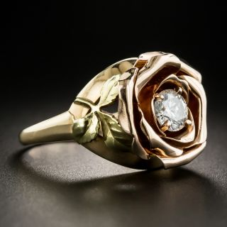 Tri-Color Gold Diamond Rose Ring by Jones and Woodland