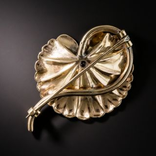 Tri-Color Gold Lily Pad Brooch