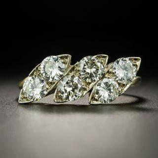 Triple Navette Shaped Diamond Band Ring - 2