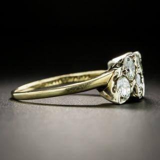 Triple Navette Shaped Diamond Band Ring