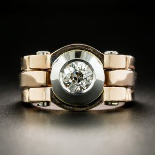 Two-Tone Retro .78 Carat Diamond Ring - 2