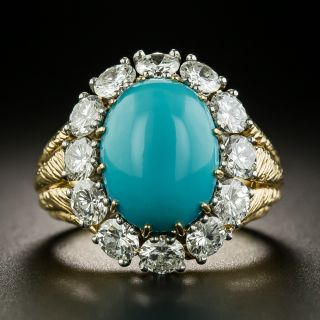 Van Cleef & Arpels Turquoise and Diamond Ring - 2