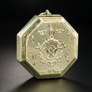 Victorian 14K Gold Compact/Pill Box