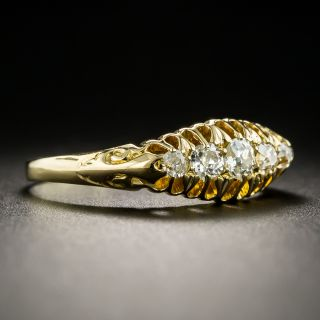 Victorian 18K Five-Stone Diamond Band Ring