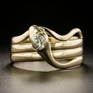 Victorian .38 Carat Diamond Snake Ring - 3