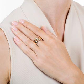 Victorian .38 Carat Diamond Snake Ring