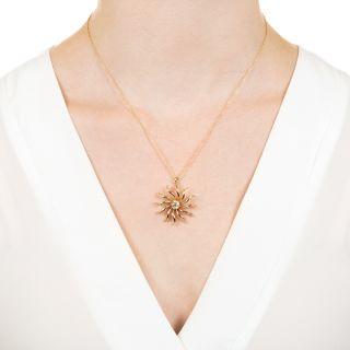 Victorian .60 Carat Diamond Pinwheel Pendant