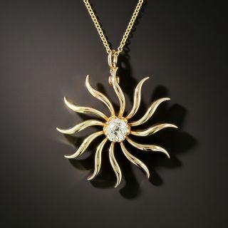 Victorian .60 Carat Diamond Pinwheel Pendant - 5
