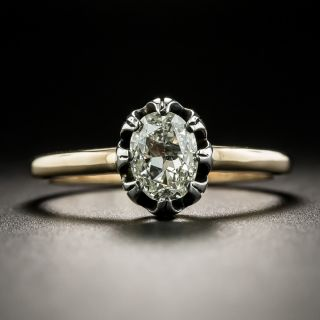 Victorian .70 Carat Diamond Solitaire Engagement Ring - 2