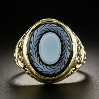 Victorian Agate Poison Ring - 3