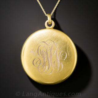 Victorian/Art Nouveau Round Locket