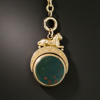 Victorian Bloodstone and Carnelian Fob - 2