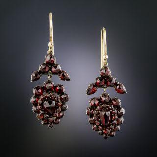Victorian Bohemian Garnet Drop Earrings - 2