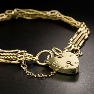 Victorian Bracelet with Heart Lock - 3