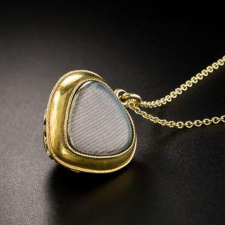 Victorian Cabochon Garnet Locket Pendant