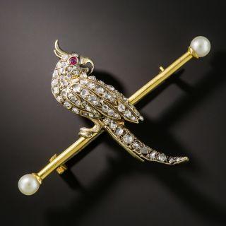 Victorian Cockatiel Pin - 1
