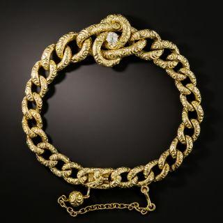 Victorian Curb Link Diamond Bracelet - 2