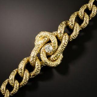 Victorian Curb Link Diamond Bracelet