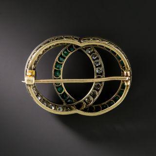 Victorian Diamond and Emerald Brooch