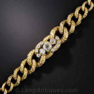 Victorian Diamond Centered Bracelet  - 2