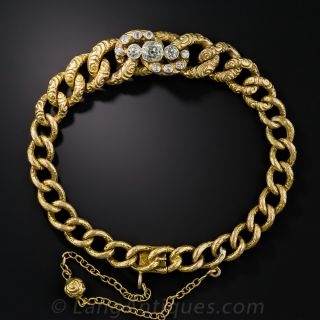 Victorian Diamond Centered Bracelet