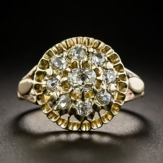 Victorian Diamond Cluster Ring - 1