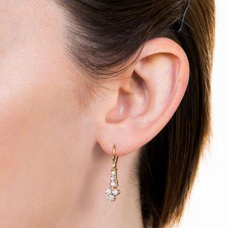 Victorian Diamond Dangle Earrings