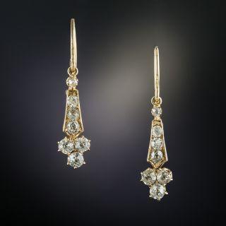 Victorian Diamond Dangle Earrings - 3