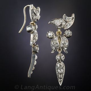 Victorian Diamond Drop Earrings