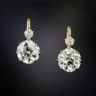 Victorian Diamond Drop Earrings - GIA - 3