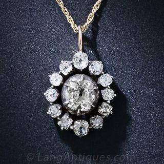 Victorian Diamond Drop Necklace - 1