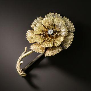 Victorian Diamond Flower Brooch, Circa 1875 - 2