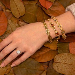 Victorian Diamond Foliate Motif Bracelet