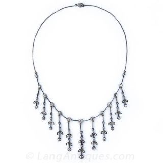 Victorian Diamond  Fringe Necklace - 1