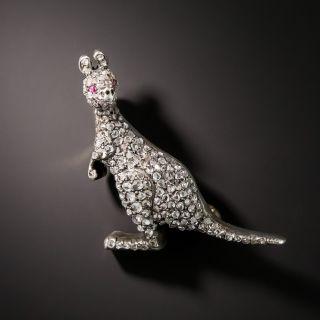 Victorian Diamond Kangaroo Brooch - 2