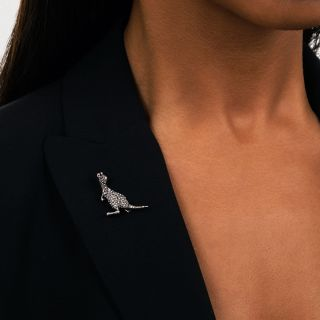 Victorian Diamond Kangaroo Brooch