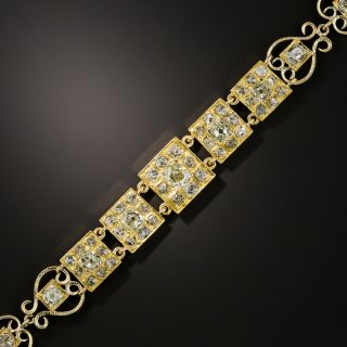 Victorian Diamond Link and Filigree Bracelet - 2