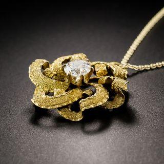 Victorian Diamond Pinwheel Pendant
