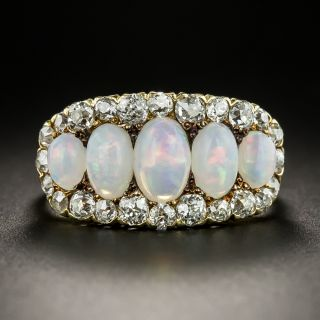 Victorian/Edwardian Opal and Diamond Ring - 2