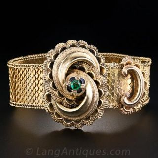 Victorian Emerald Bracelet and Ring Set