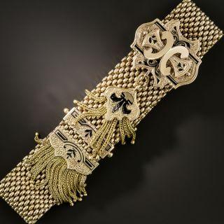Victorian Enamel Slide Tassel Bracelet - 2