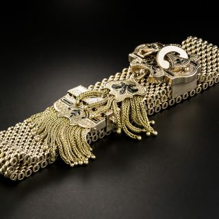 Victorian Enamel Slide Tassel Bracelet
