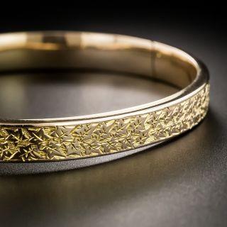 Victorian Engraved Bangle Bracelet - 2