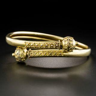 Victorian Etruscan Revival Flexible Bracelet