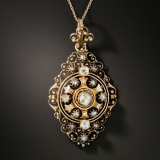 Victorian Filigree Diamond Necklace - 3