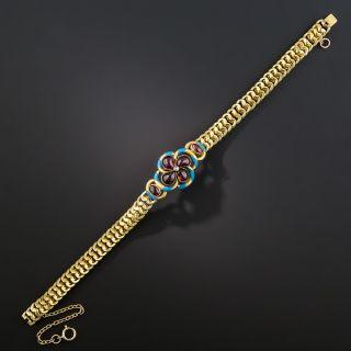 Victorian Garnet and Enamel Bracelet