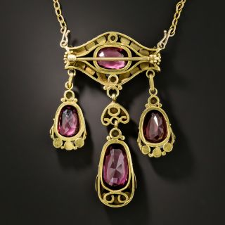 Victorian Garnet and Pearl Necklace/Brooch