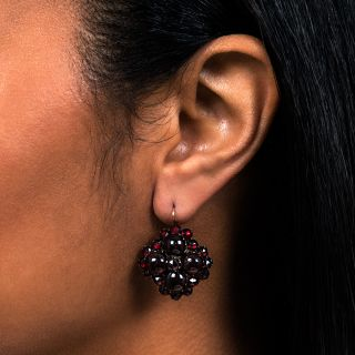Victorian Garnet Drop Earrings