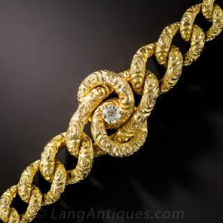 Victorian Gold Bracelet with Diamond