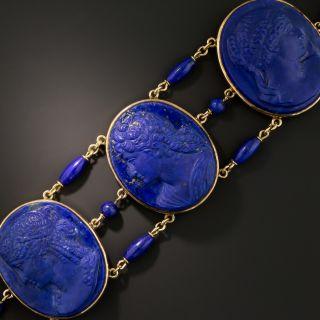Victorian Lapis Lazuli Cameo Bracelet